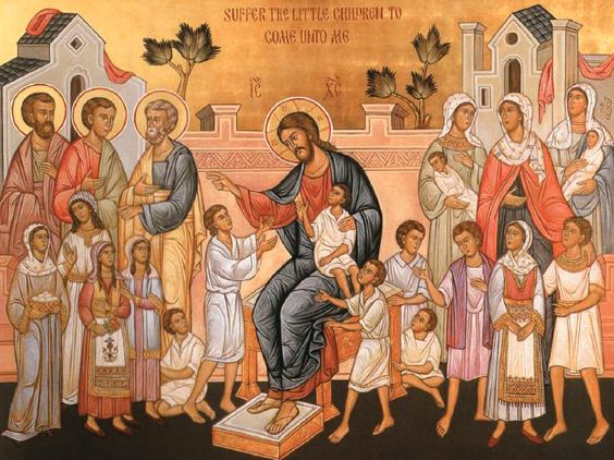 Image result for icon jesus teaching the children